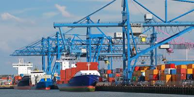 Krananlage Hafen